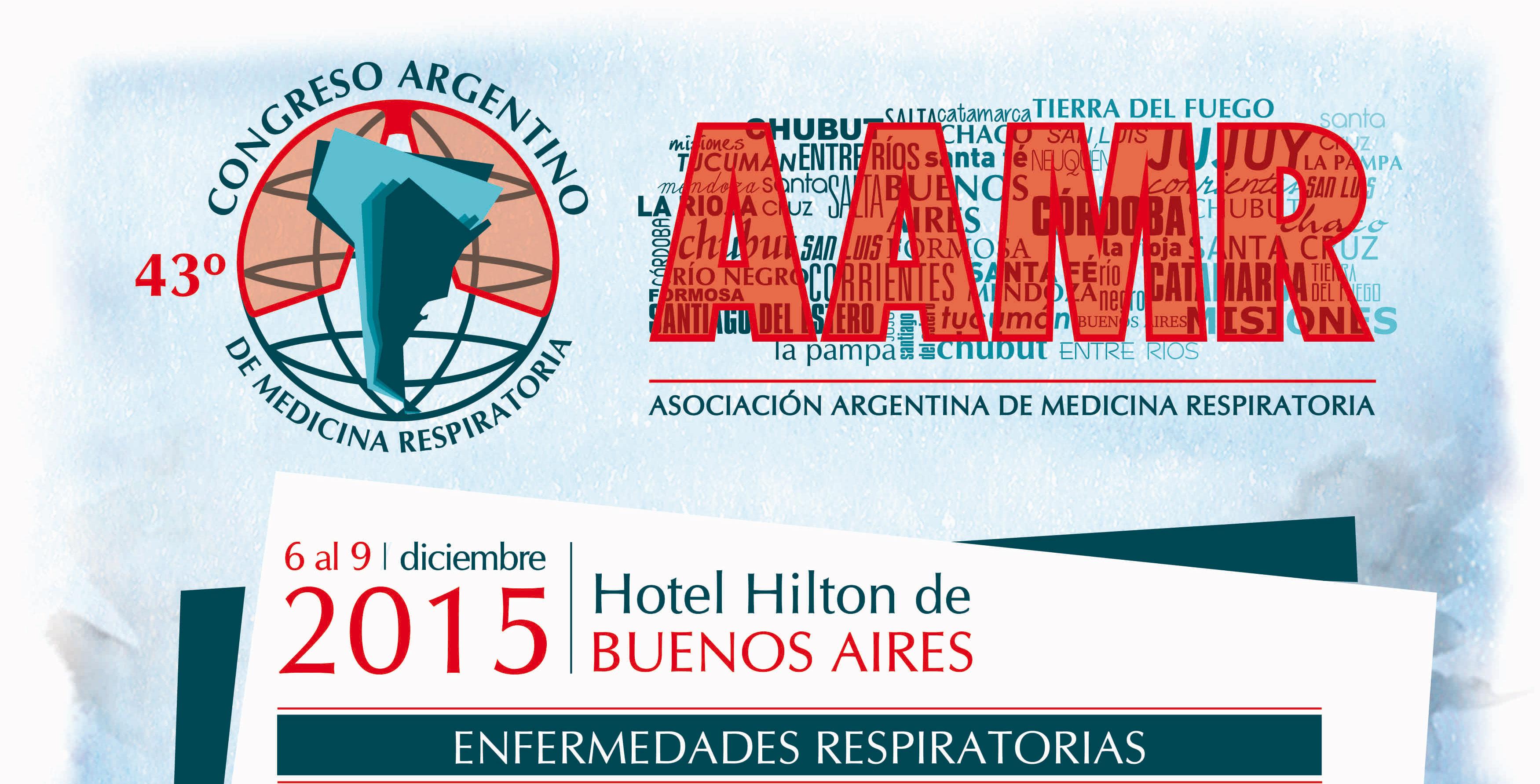 Lee más sobre el artículo 43º Congreso Argentino de Medicina Respiratoria AAMR